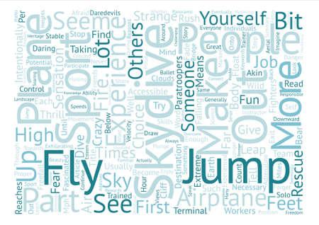 Reasons To Skydive Word Cloud Concept Text Background Ilustração
