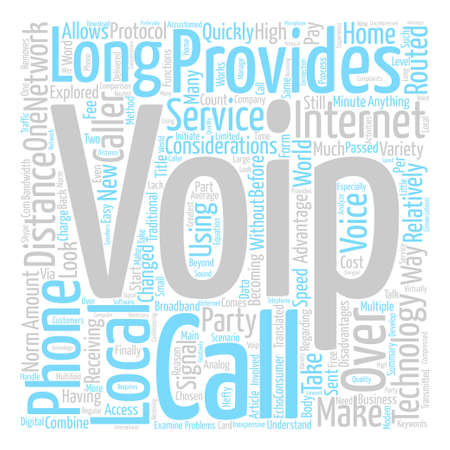 considerations: VOIP Considerations text background word cloud concept Illustration