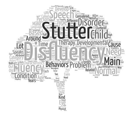fluency: Speech Therapy An Overview On Fluency Disorders Word Cloud Concept Text Background