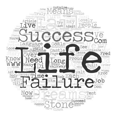 IN SUCCESS LANGUAGE FAILURE MEANS YOU ARE ALMOST THERE Word Cloud Concept Text Background
