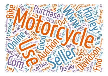 Used Motorcycle text background word cloud concept