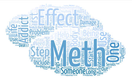 meth: How Does Meth Get a Grip on Someone text background word cloud concept Illustration