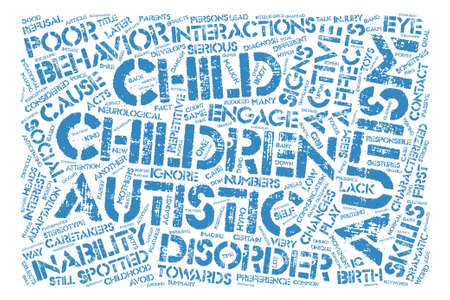 malign: Malign Effects of Child Autism text background word cloud concept