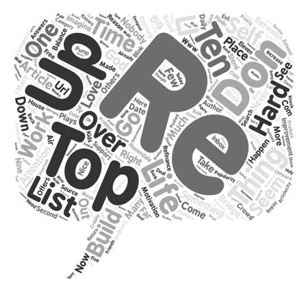 Top Ten Things to Build a Bridge and Get Over text background word cloud concept