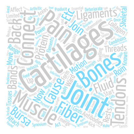 Threads of Bands and Back Pain Word Cloud Concept Text Background