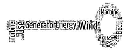 Wind Turbines text background word cloud concept