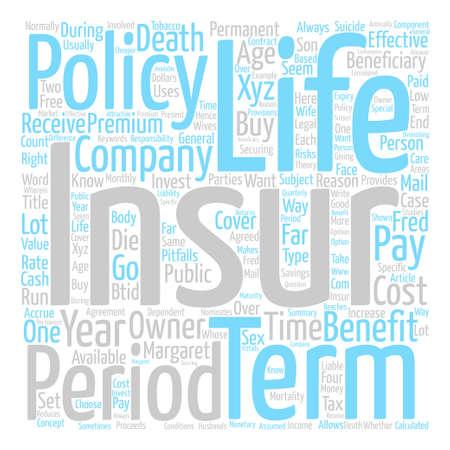 Is Term Insurance Right For You Word Cloud Concept Text Background Ilustração