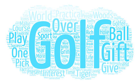 Hole In One Golf Gifts text background word cloud concept Illustration