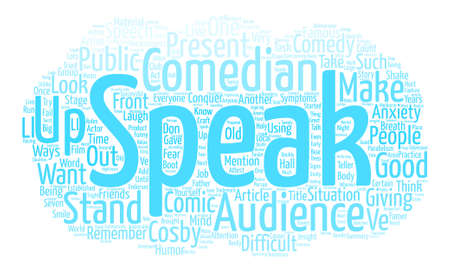 Stand up Speak up text background word cloud concept Illustration