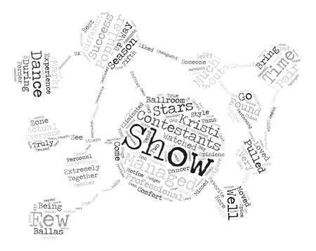 Some of the Most Popular Contestants Word Cloud Concept Text Background