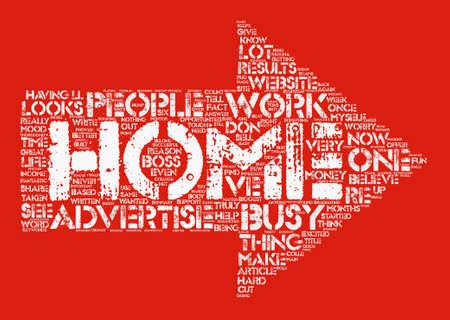 make summary: Make Your Home Business Work text background word cloud concept Illustration