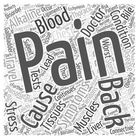 Cholecystitis and Back Pain Word Cloud Concept
