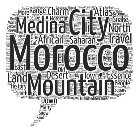 Voyage au Maroc Mavens of the Maghreb text background word cloud concept