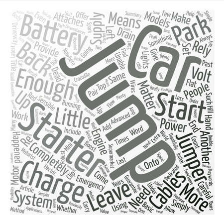 matter: Jump Starters Or Jumper Cables text background word cloud concept Illustration