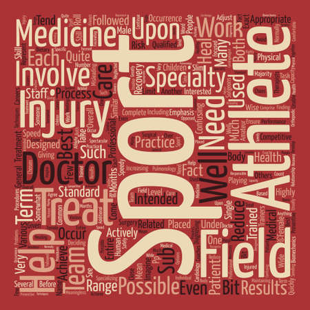 What is Sports Medicine text background word cloud concept Ilustrace