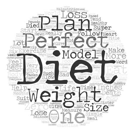 The perfect diet anyone Word Cloud Concept Text Background