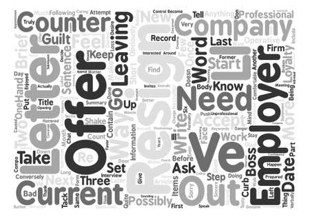 The Only Way To Resign Word Cloud Concept Text Background