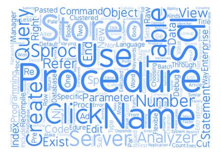 SQL Server ストアド プロシージャ Word クラウド コンセプト テキストの背景
