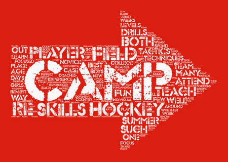 What To Know About Field Hockey Camp Word Cloud Concept Text Background