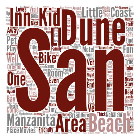 Oregon Coast Inn Provides Fun Funky Amenities Word Cloud Concept Text Background Illustration