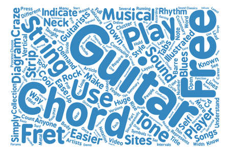 craze: Know Your Free Guitar Chords text background word cloud concept