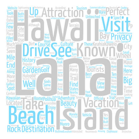 untouched: Must Visit Lanai Attractions text background word cloud concept