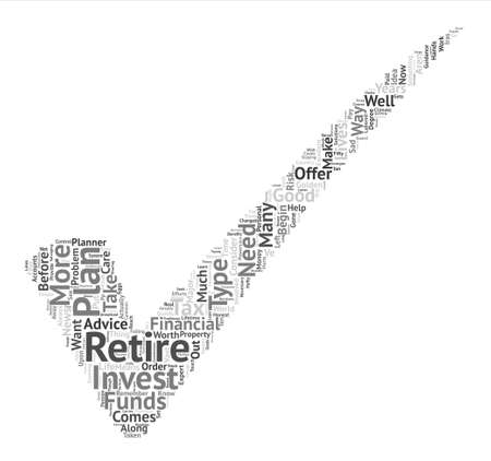Types of Retirement Plans text background word cloud concept Çizim