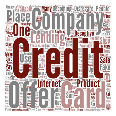 persuasive: How To Find Out Deceptive Credit Card Offer text background word cloud concept
