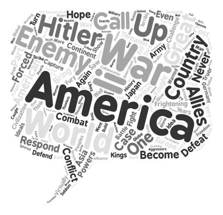 The Great War text background word cloud concept
