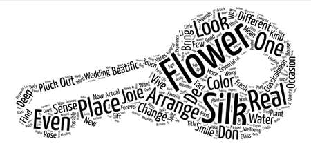 Silk Flower Classicalmesh text background word cloud concept Illustration