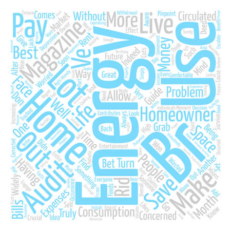 Home Energy Magazines text background word cloud concept