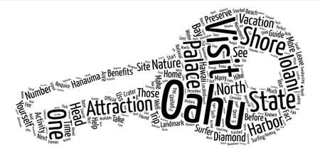 oahu: Must Visit Oahu Attractions text background word cloud concept
