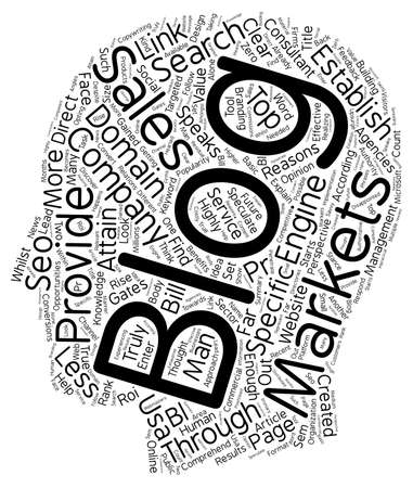 Company Blogs text background wordcloud concept Illustration