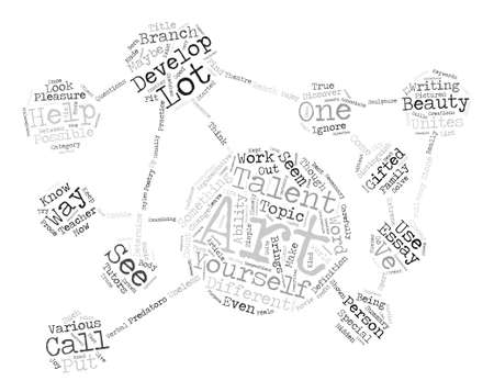 Talented in Arts Word Cloud Concept Text Background