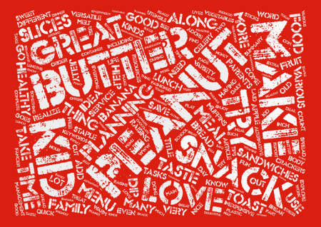 versatile: Peanut Butter Snack Ideas Word Cloud Concept Text Background