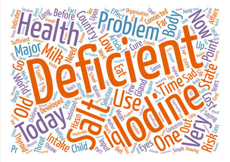 iodine: Iodine Deficiency The Biggest Health Threat Today text background word cloud concept