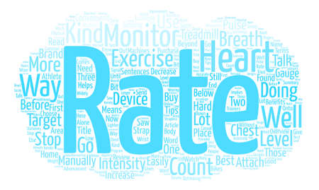 pulses: Overview Of Heart Rate Monitors Word Cloud Concept Text Background Illustration