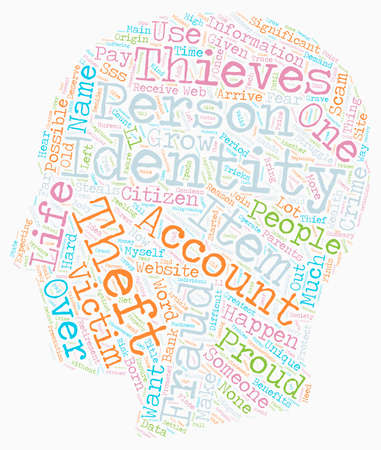 How Do Identity Thieves Scam You text background wordcloud concept