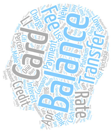 transfers: Guide to Balance Transfers text background wordcloud concept Illustration