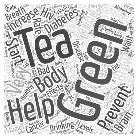 Green Tea Reasons Why You Should Start Drinking It Word Cloud Concept