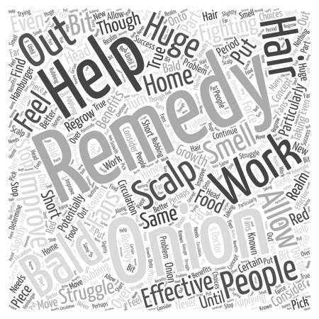 potentially: Fighting Baldness with Home Remedies Word Cloud Concept Illustration