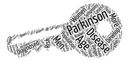 Who Gets Parkinson s Disease text background word cloud concept