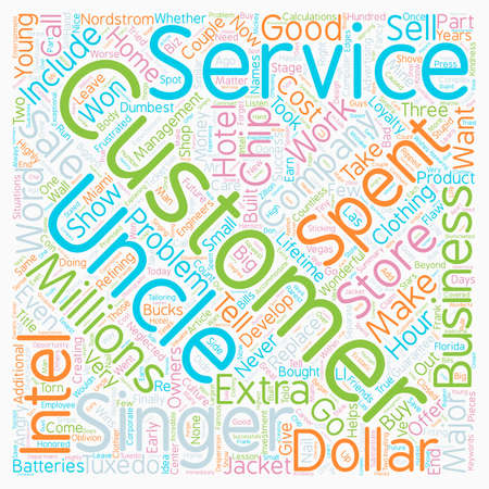 Customer Service Customer Loyalty Wins Sales text background wordcloud concept