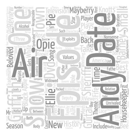 The Andy Griffith Show DVD Review text background word cloud concept