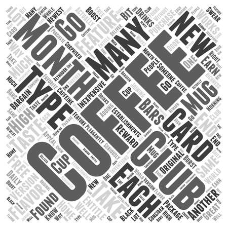Coffee of the month clubs Word Cloud Concept