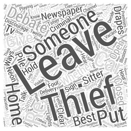 Fifteen Ways To Discourage A Criminal Word Cloud Concept Illustration