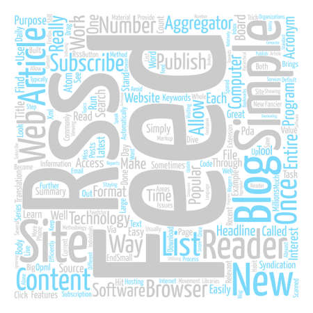 What Is RSS Word Cloud Concept Text Background