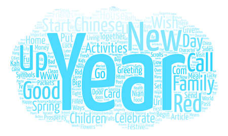 Ways to Celebrate Chinese New Year text background word cloud concept