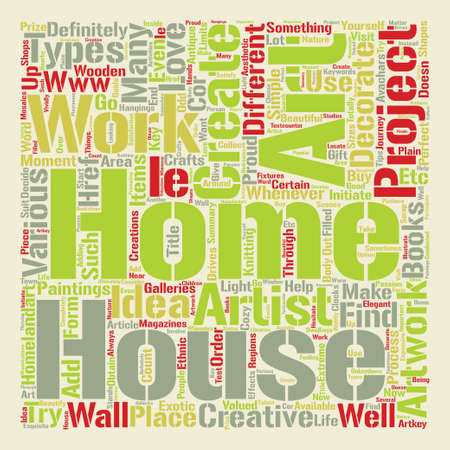 Home Art Word Cloud Concept Text Background