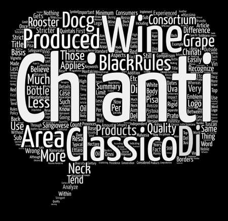 chianti: The Difference Between Chianti Wine And Chianti Classico Wine text background word cloud concept